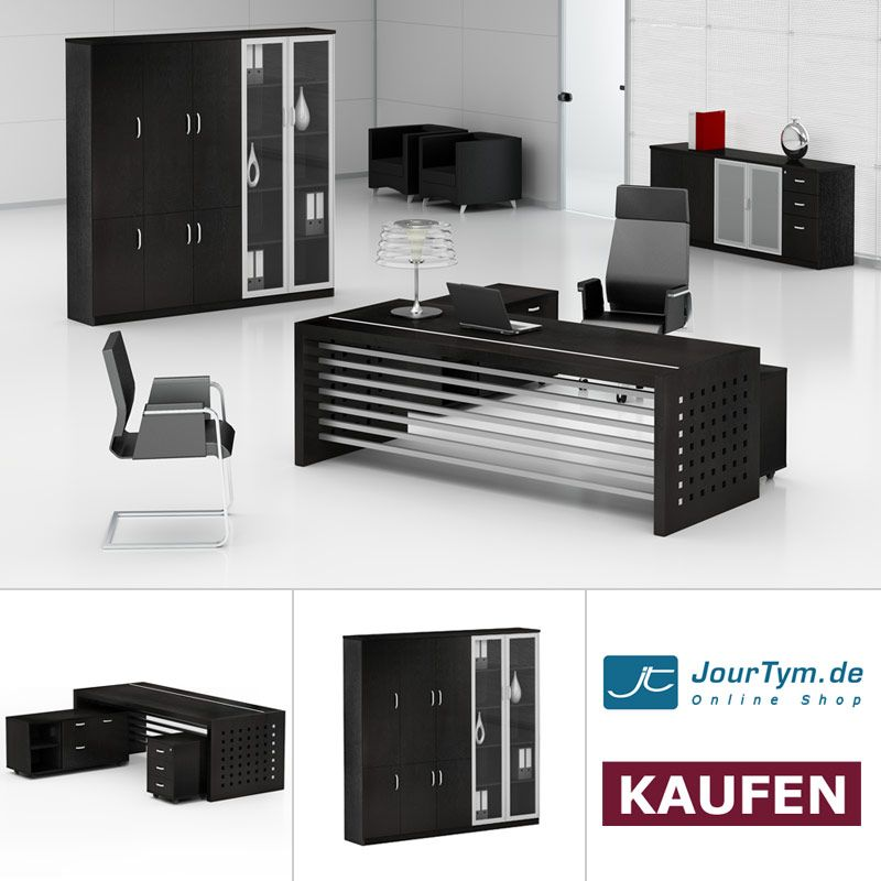 arbeitszimmer m bel schreibtisch aktenschrank prato b rom bel sparsets pinterest. Black Bedroom Furniture Sets. Home Design Ideas