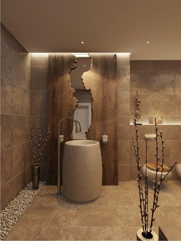 Charmant Super Gestaltung   Bad Einrichten Ideen   Beige Badezimmermöbel