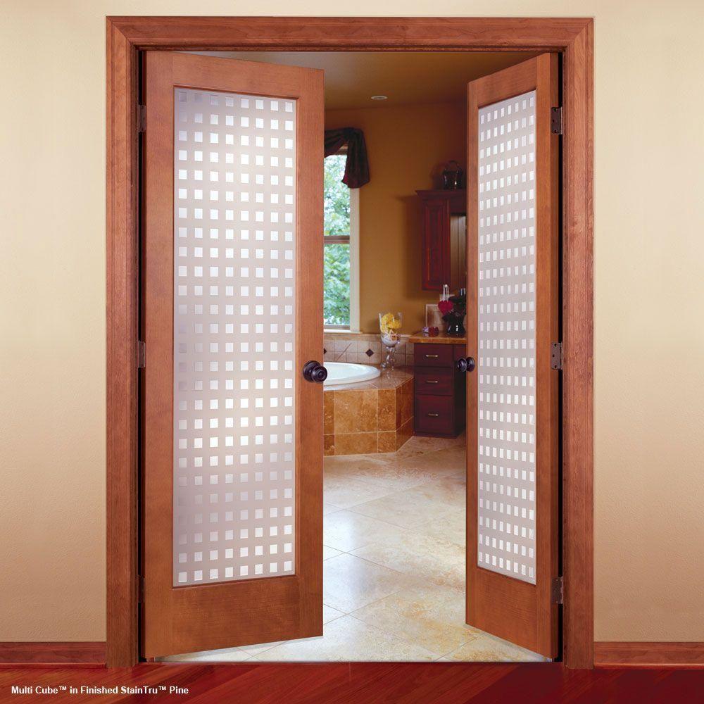 Feather River Doors 32 In X 80 In Multicube Smooth 1 Lite Primed Mdf Interior Door Slab