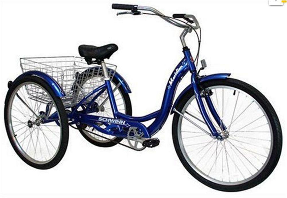 Schwinn Meridian Adult 26-Inch Lightweight Aluminum Frame 3-Wheeled ...