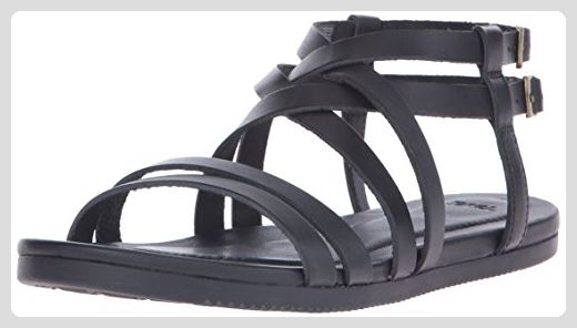 Teva Avalina Crossover Leather W's Damen Sport- & Outdoor Sandalen, Schwarz (Black 513), EU 40