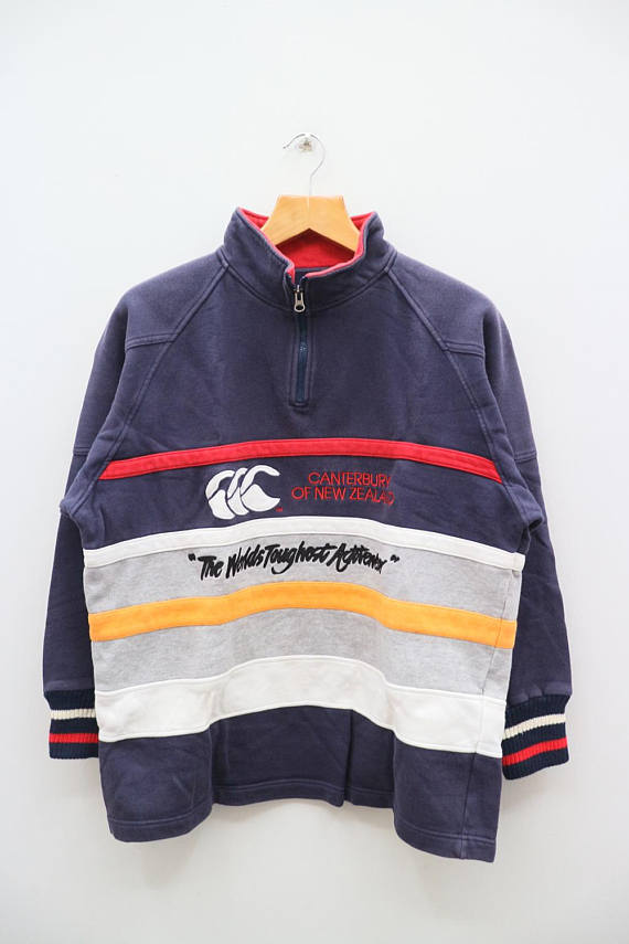 Vintage CANTERBURY Of New Zealand Sportswear Blue And Gray