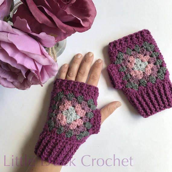 Crochet wrist warmers, crochet fingerless gloves, crochet gloves ...