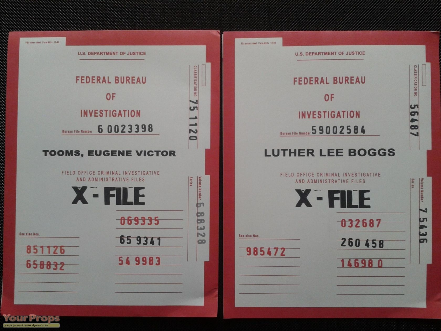 The X-Files X-Files Case Folders replica movie prop | X