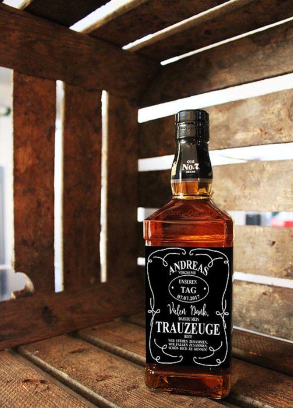 geschenk trauzeuge personalisiertes jack daniels whiskey etikett zur hochzeit eine tolle und. Black Bedroom Furniture Sets. Home Design Ideas