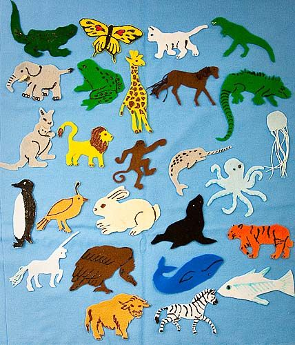 Animal ABCs, felt animal to learn the alphabet printable patterns