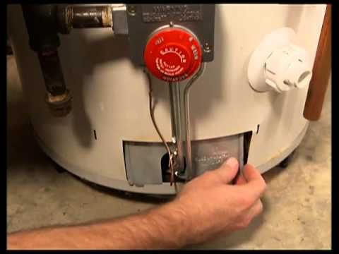 How To Light A Gas Water Heater Pilot Light Youtube Gas Water