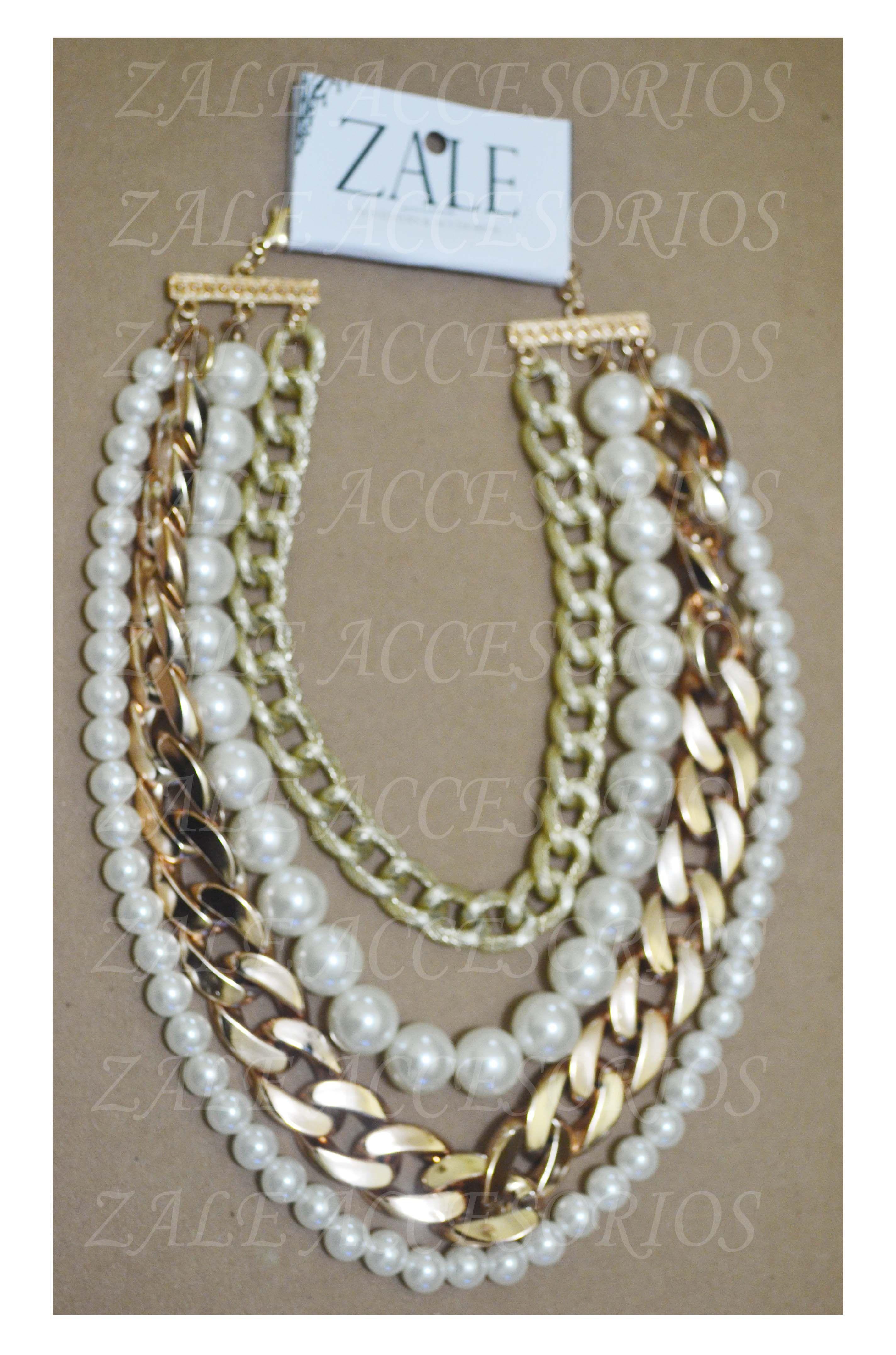 Collar cadena y perlas collar collares pinterest jewerly