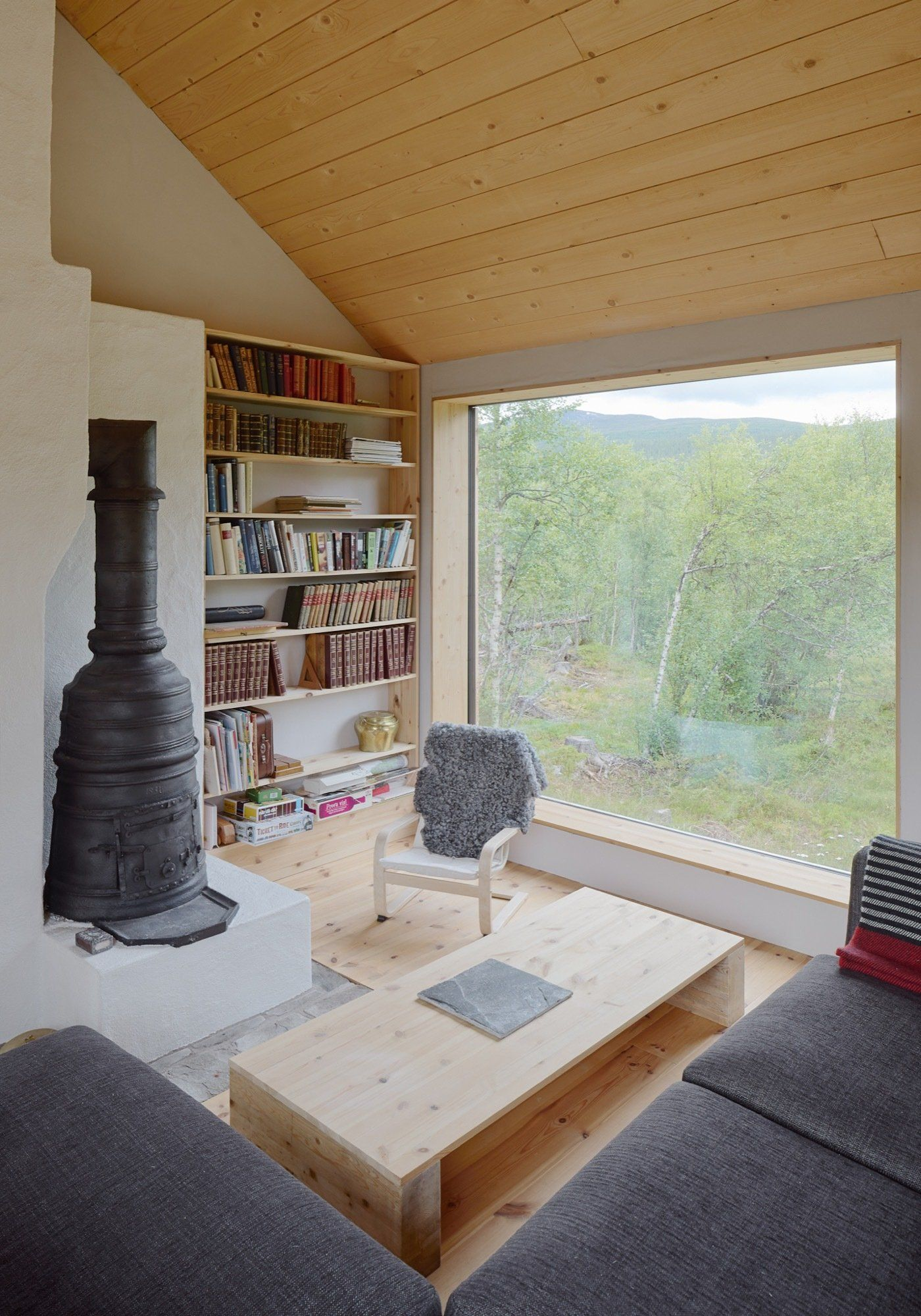 Living Room Design Concepts Unique Simple Wood Living Room With A Stove Ljungdalen Sweden  Cozy Review
