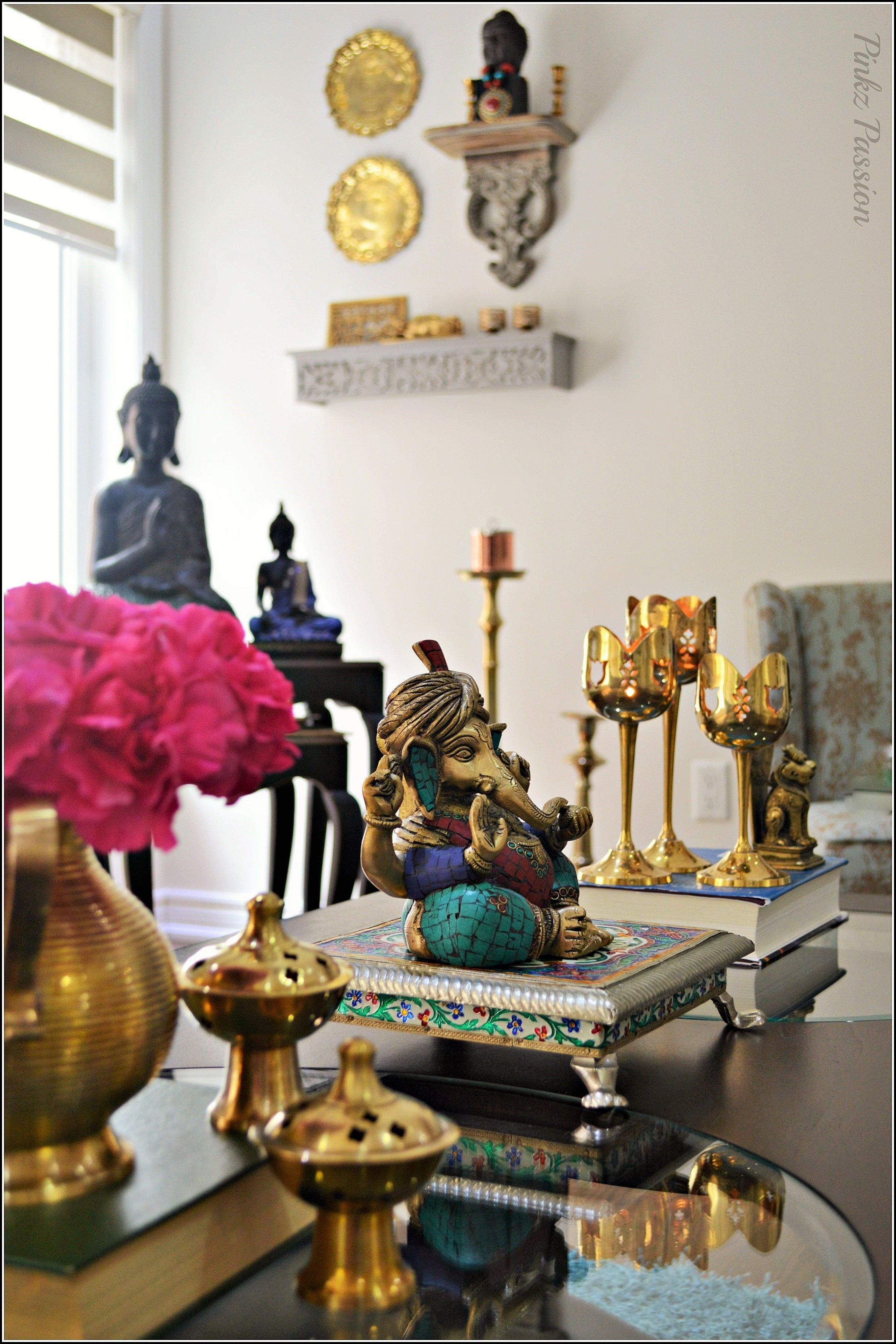Indian Décor Inspired Br Collectibles Vignettes
