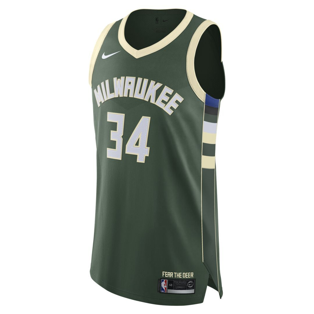 Giannis Antetokounmpo Icon Edition Authentic (Milwaukee Bucks) Mens Nike  NBA Connected Jersey Size 44 5997c3ebc