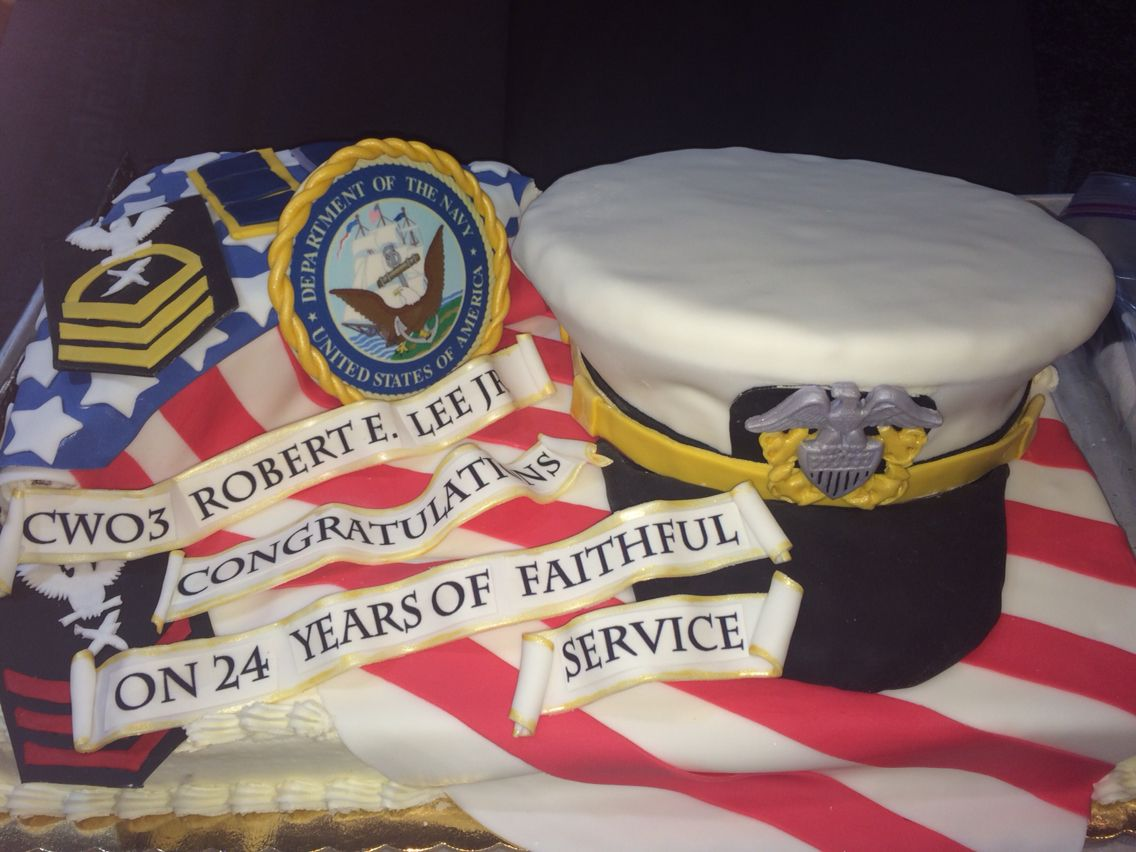 JDCSweets Navy officer cake, navy retirement, navy rank