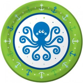 Ocean Boy Dessert Plates - 7in (8 Pack)