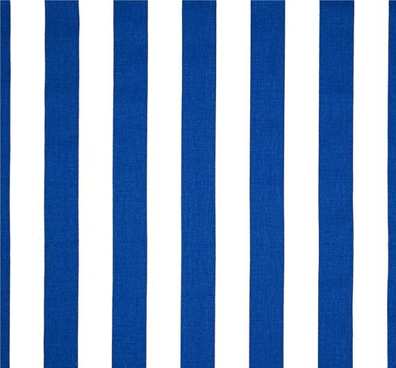Stripe Fabric Royal Blue By The Yard Designer Cottoncircle