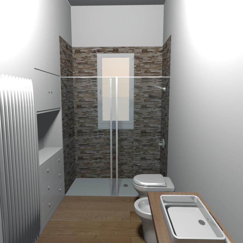 Immagine progetto bagno pinterest bagno bagni e - Doccia con finestra dentro ...