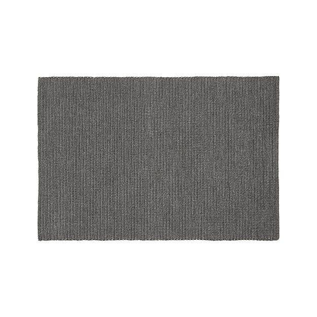 Crate And Barrel Desi Rug: Salome Charcoal Grey Indoor/Outdoor 8'x10' Rug