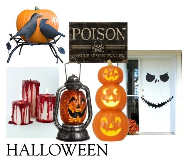 """""""Halloween"""" by niaoki ❤ liked on Polyvore featuring interior, interiors, interior design, home, home decor, interior decorating, John Lewis and Halloweenparty"""