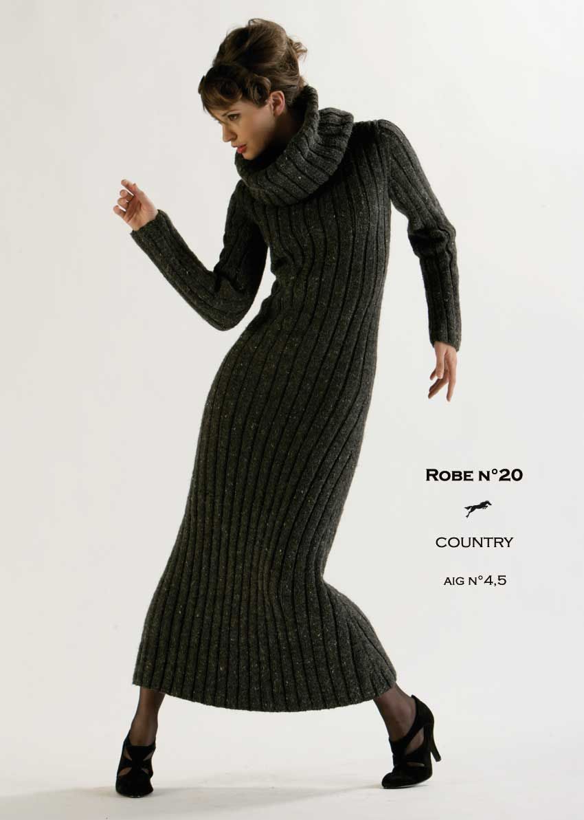 Robe laine femme blanche