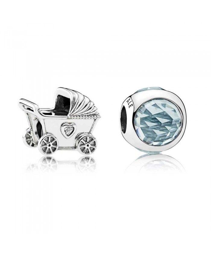 Pandora Blue Baby Pram Charm Set Bb241   Charm set, Pram charms ...