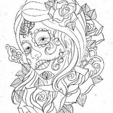 sugar skull animal coloring pages cool 564x768 55 kb day of the dead coloring
