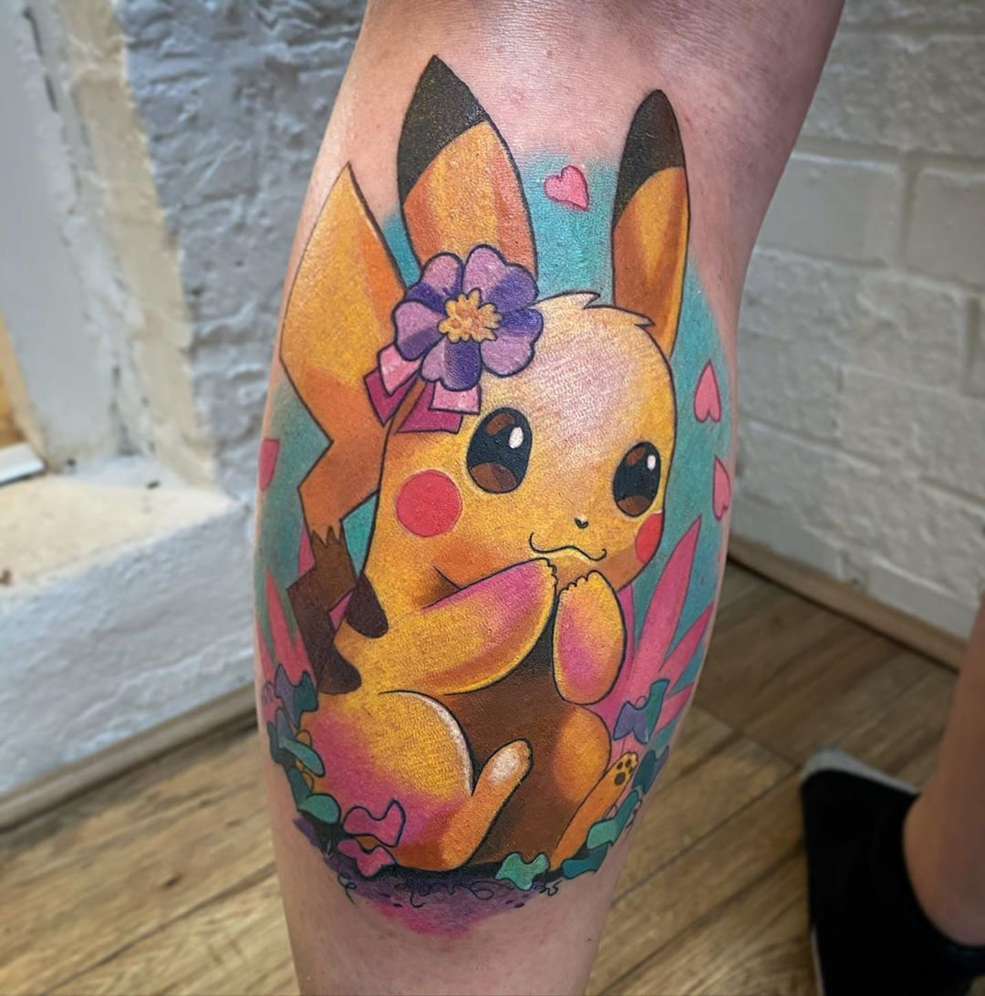101 Awesome Pokemon Tattoo Designs You Need To See In 2020 Pikachu Tattoo Pokemon Tattoo Tattoos