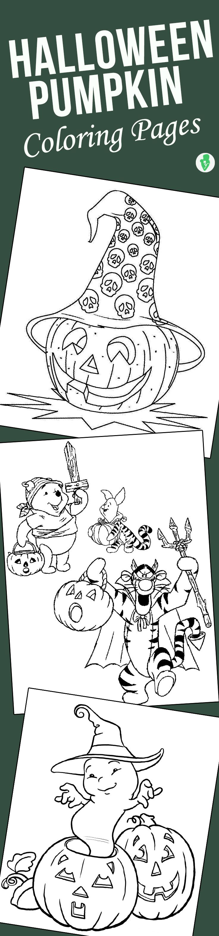 Top 10 Free Printable Halloween Pumpkin Coloring Pages Online | Free ...