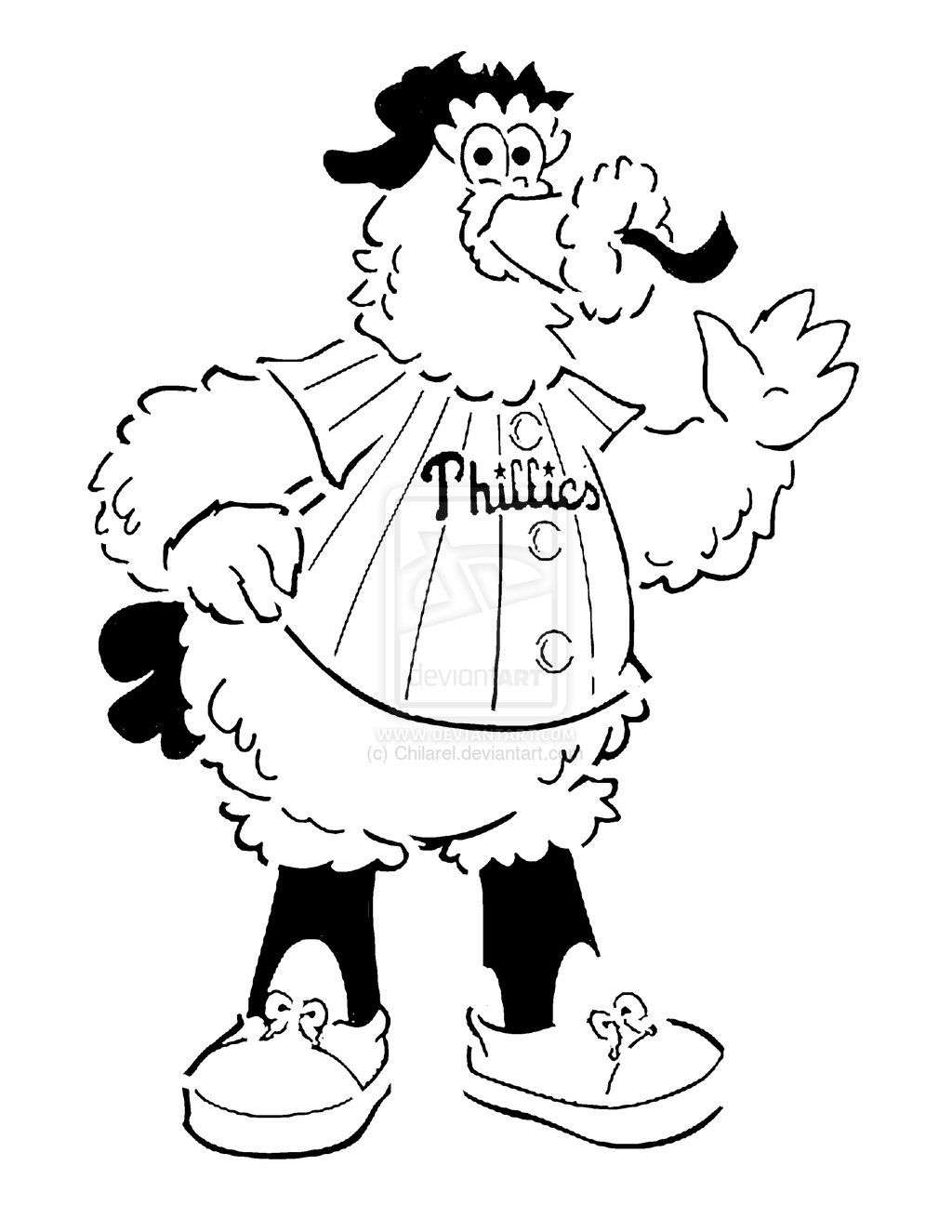 mascot coloring pages | Philadelphia Phillies Phanatic Coloring Pages ...