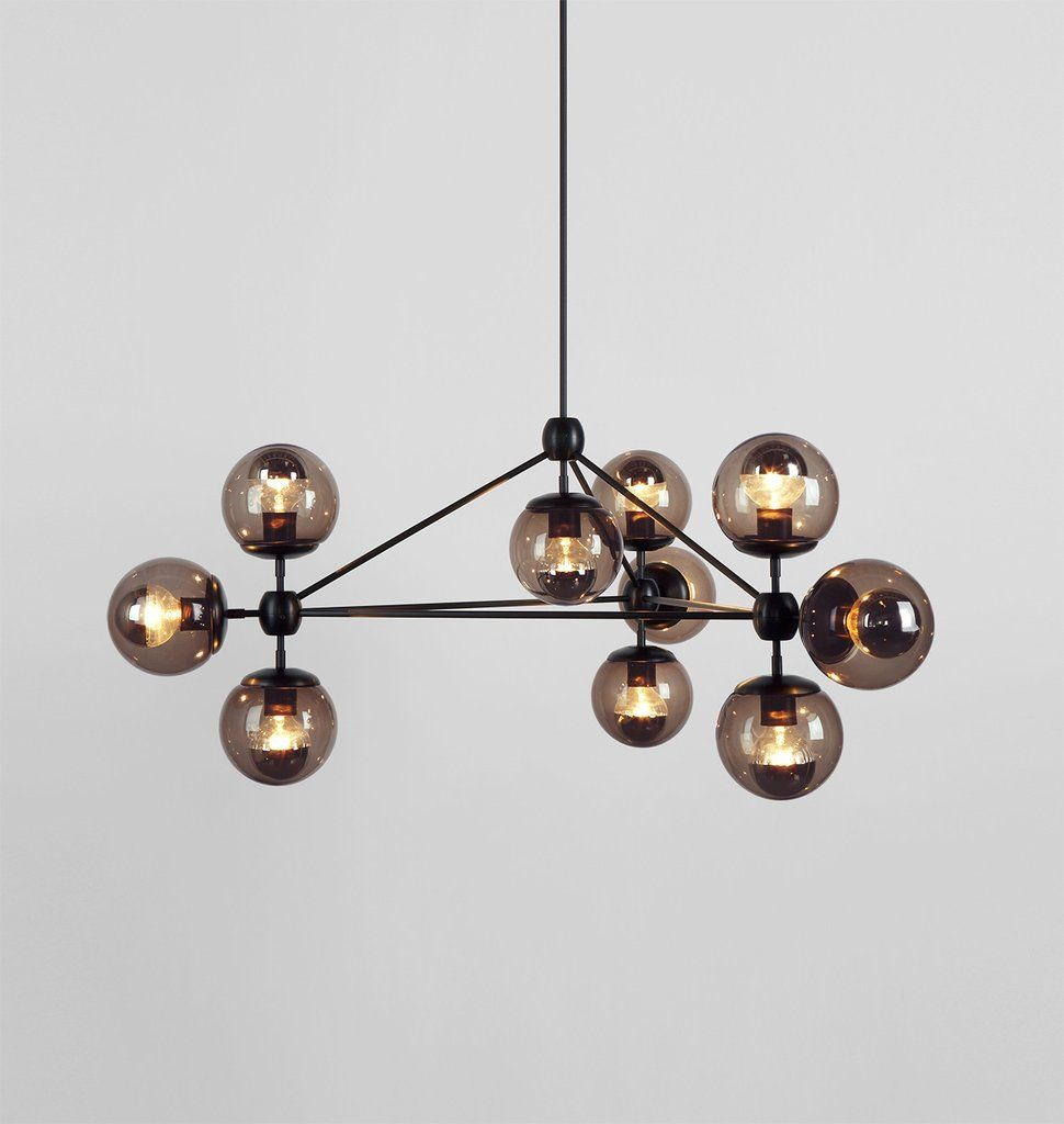 Chandelier - 3 Sided, 10 Globes (Black/Smoke) | seeing the light ...