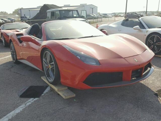Salvage 2017 Ferrari 488 Spider Convertible For Sale Flood Title