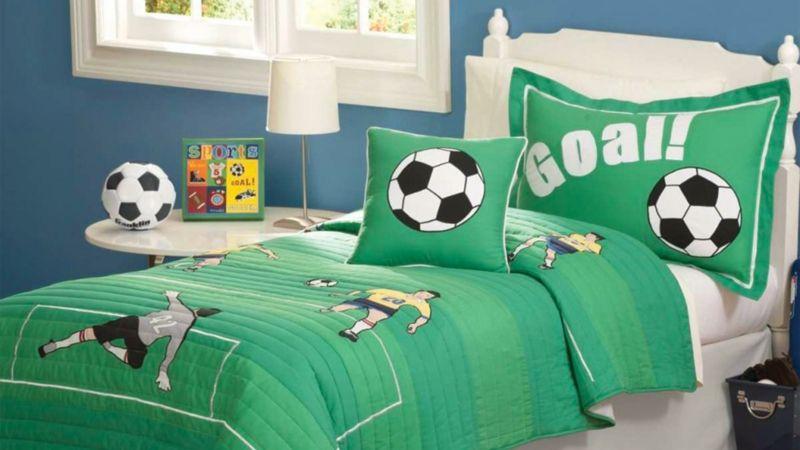 kinderbettwäsche für jungs fußball thema   kinderzimmer ... - Kinderzimmer Einrichten Sport Thema