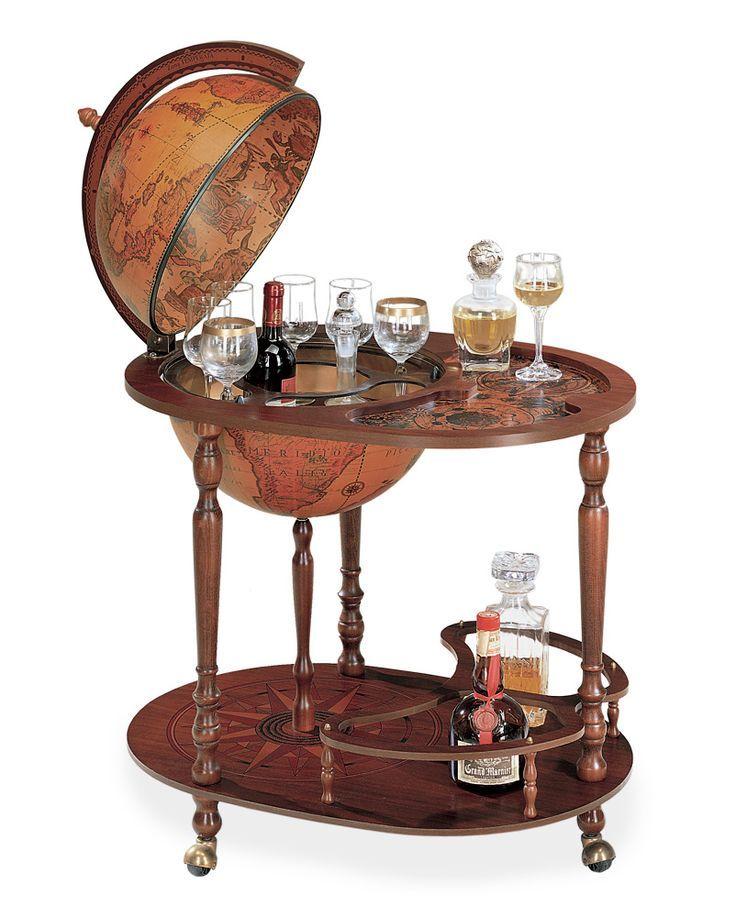 Royal Queen Serving Cart Bar Globe With 16 Classic Globe Globe
