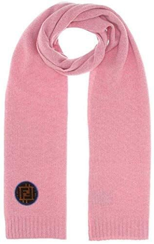 New Fendi Unisex Wool Knitted Scarf Pink with Fendi Velvet Circle FF Logo One Size FXT251 Womens Scarves 450 from top store topfavoritestyle You are in the right place ab...