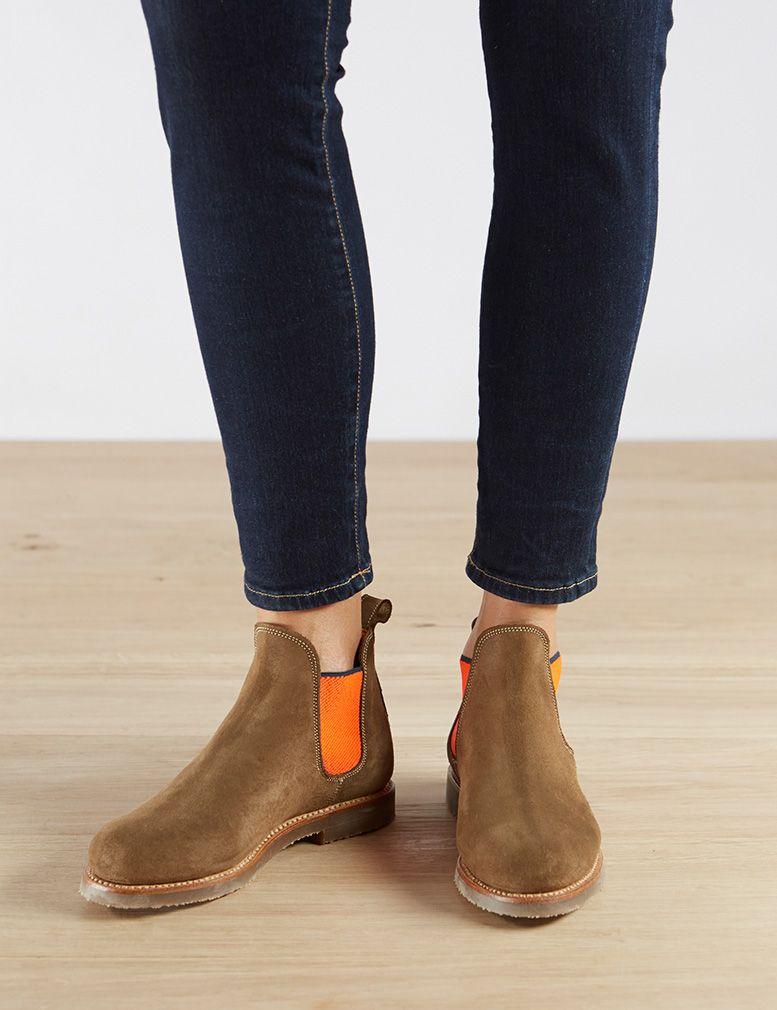 03265ee751a SAFARI BOOT NEON - PEAT/NEON ORANGE - Penelope Chilvers | Chaussures ...