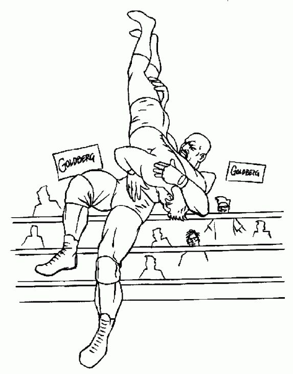 WWE Professional Wrestling Coloring Page For Boys Sports