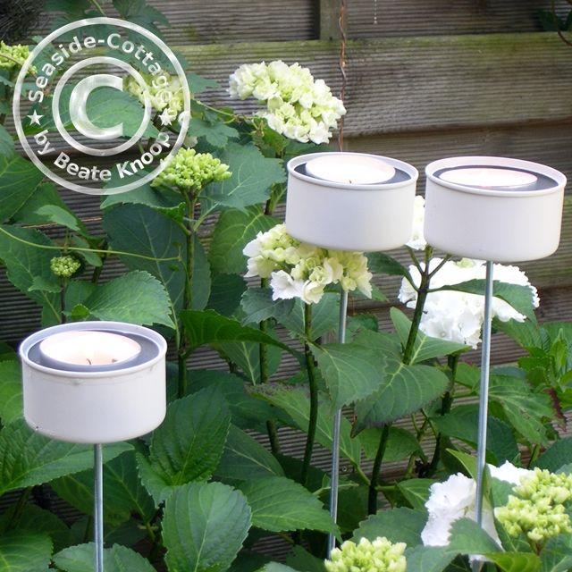 upcycling diy: gartenlichter aus thunfischdosen | upcycling and diy, Garten ideen