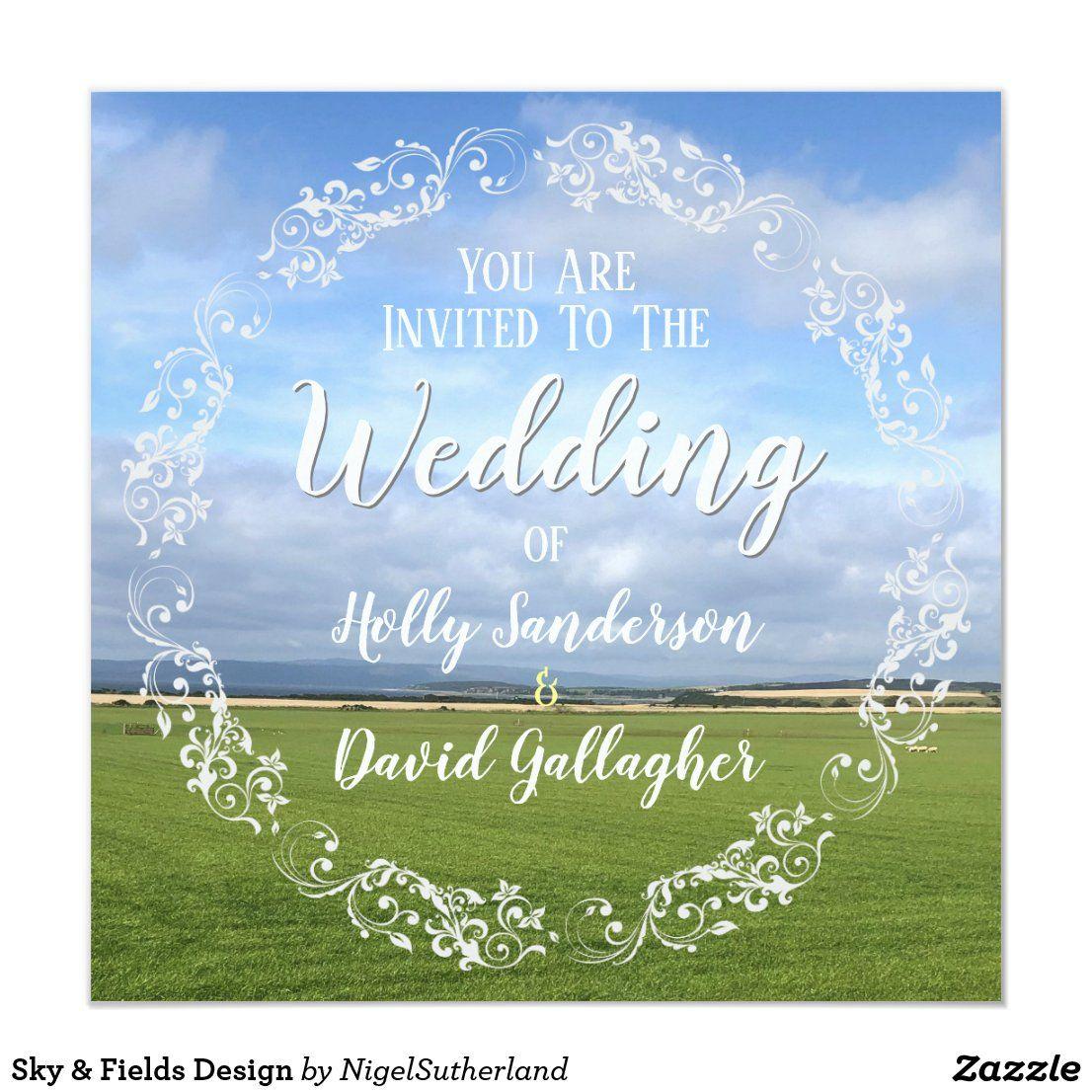Sky & Fields Design Invitation Zazzle.co.uk in 2020