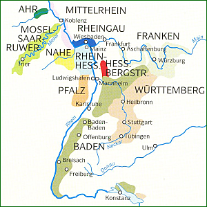 Some Of The Most Furtive German Wine Country Wine Pinterest - Germany vineyards map