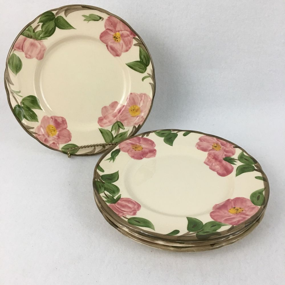 Set of 4 Franciscan Desert Rose Salad Desert Plates 8 Inch Made in England #Franciscan #NA & Set of 4 Franciscan Desert Rose Salad Desert Plates 8 Inch Made in ...