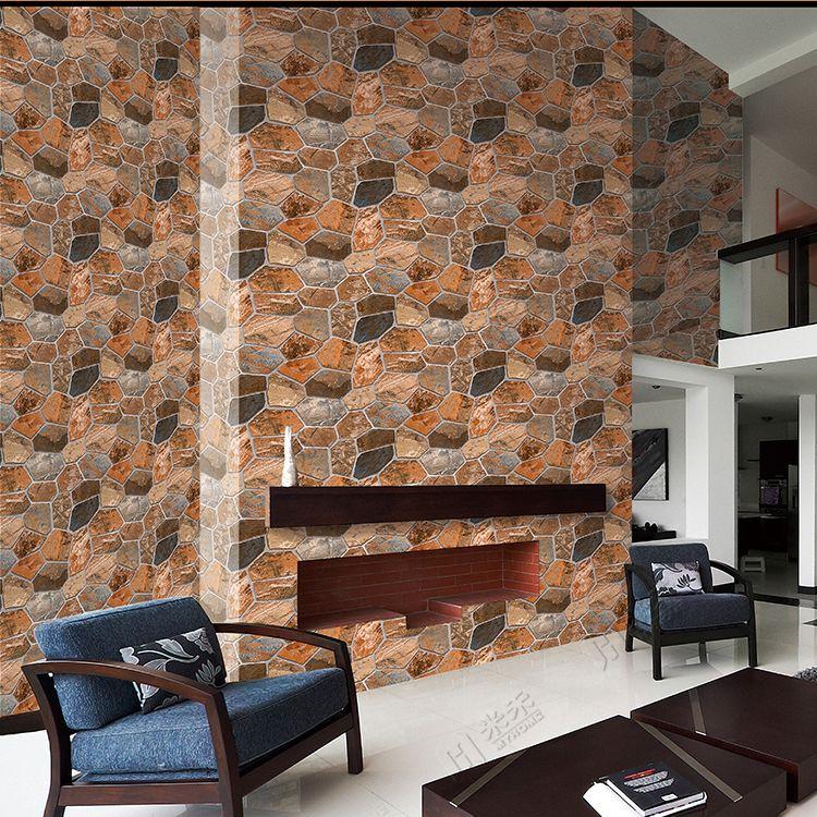 Modern design washable vinyl 3d brick wallpaper for home for 3d washable wallpaper