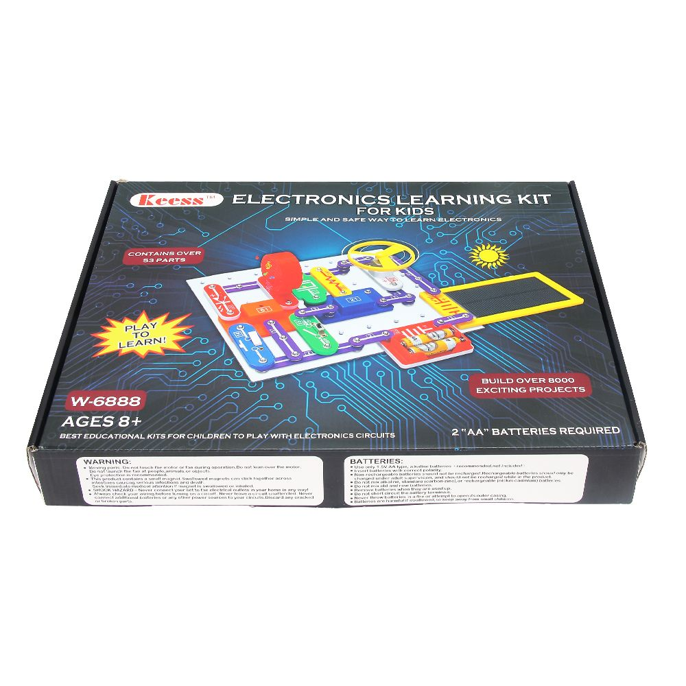 Electronics Learning Kit For Kids Best Electric Building Blocks To Simple Electronic Circuit Learn About Electricity And Circuits