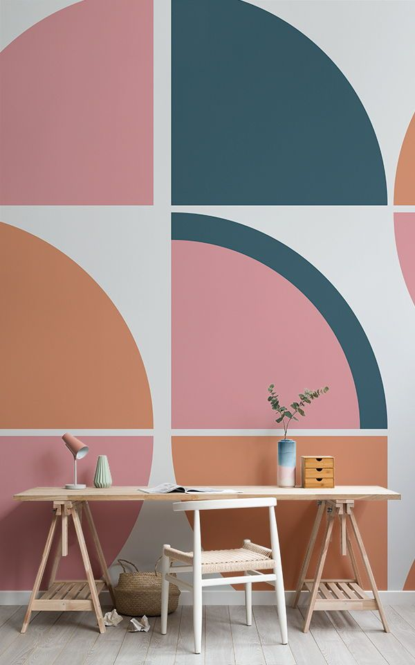Charmant Breuer Retro Geometric Wall Mural | Architecture | Pinterest | Retro  Wallpaper, Office Decor And Wall Murals