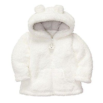 Yoyorule Baby Kids Infant PU Leather Jacket Zipper Hooded Outwear Coats