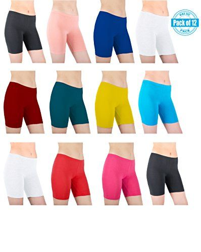 da2a28f8f62b Sexy Basics Womens 12 Pack Sheer & Sexy Cotton Spandex Boyshort Yoga Boxer  Briefs at Amazon Women's Clothing store: