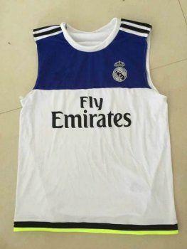 online store 55ec9 26116 Real Madrid Football Shirt Blue/White Sleeveless Replica ...