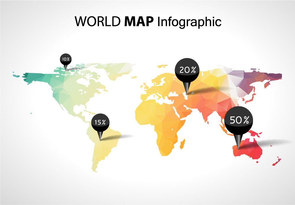 World map infographic google search maps pinterest world map infographic google search gumiabroncs Gallery