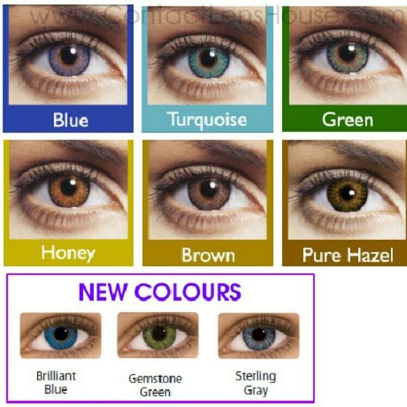 Turquoise Color Contacts Freshlook Eye Color Change Contact Lenses Colored Colored Contacts