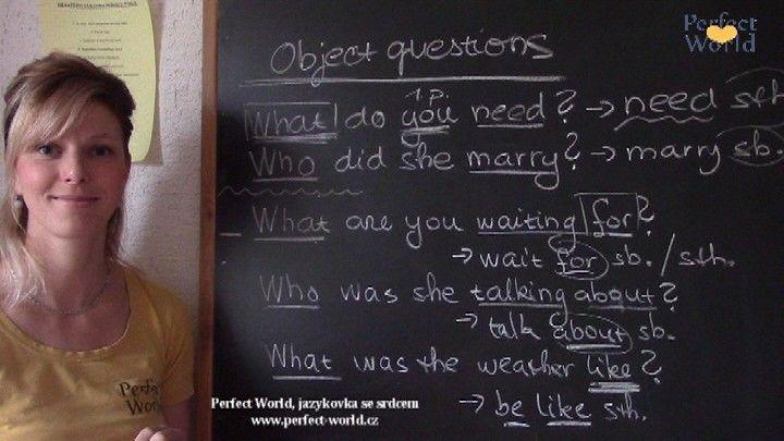 Předmětné otázky v angličtině