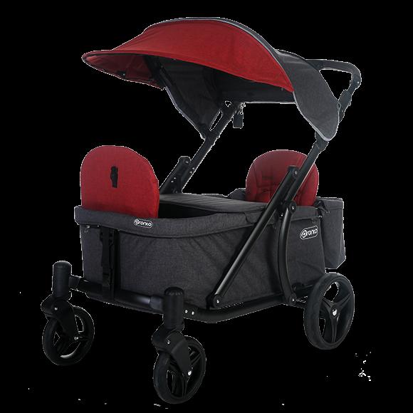 Pronto One Stroller Burgundy with black frame Starter