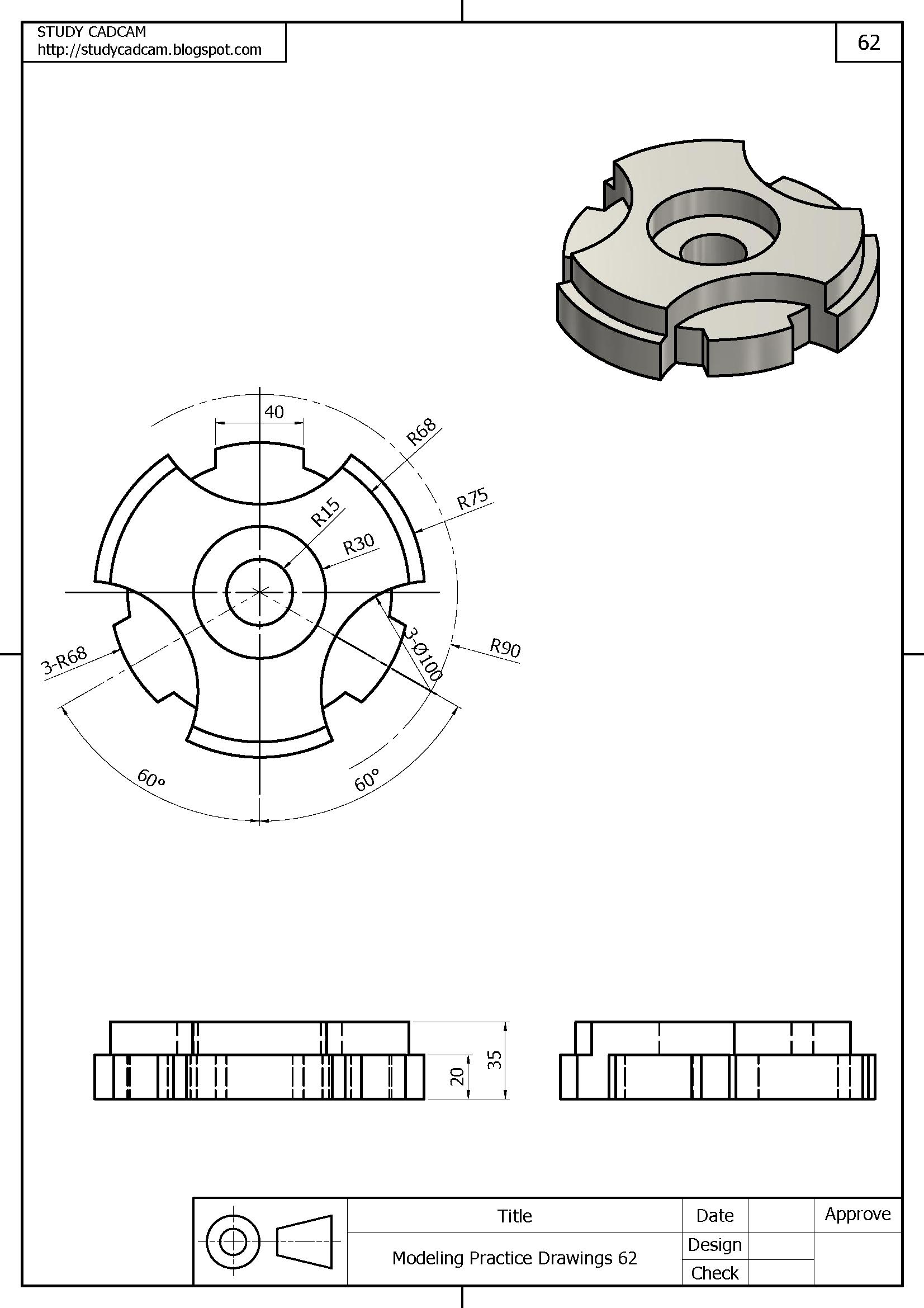 Pin Van Studycadcam Op 3d Modeling Practice