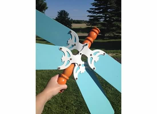 How To Build A Garden Dragonfly Using Repurposed Fan